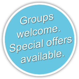 Groups welcome - special offers available.